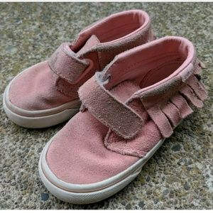 Vans Pink Moccasin Sneaker Shoe Toddler Youth 6